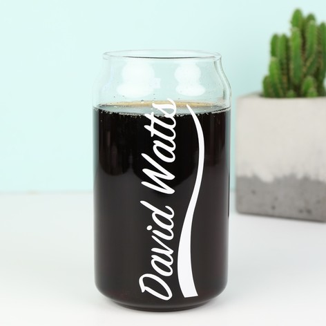 Personalised Cola Can Glass
