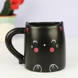 Oh K! Black Cat Heat Change Mug
