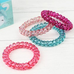 Oh K! Pack of 4 Spiral Hair Bands