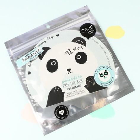 Oh K! Panda Face Fibre Face Mask
