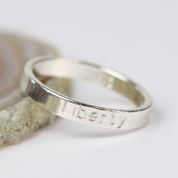 Personalised Engraved Sterling Silver Name Ring
