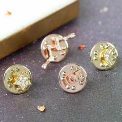 Orelia Set of Four Constellation and Star Pins