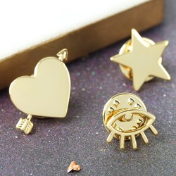 Orelia Set of Three Gold Pins