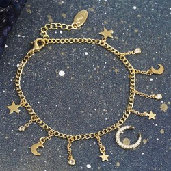 Orelia Starry Crystal Charm Bracelet