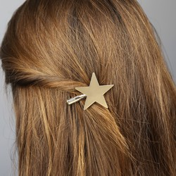 Orelia Large Pale Gold Star Hair Clip