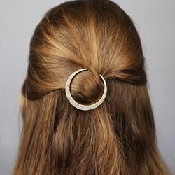 Orelia Sparkling Gold Moon Hair Clip
