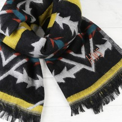 Personalised Aztec Brights Blanket Scarf
