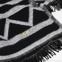 Personalised Aztec Monochrome Blanket Scarf
