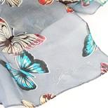 Personalised Butterfly Print Skinny Silk Scarf