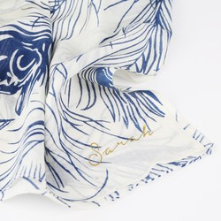 Personalised Peacock Feather Cotton Scarf