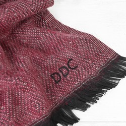 Personalised Unisex Rich Burgundy Woven Scarf