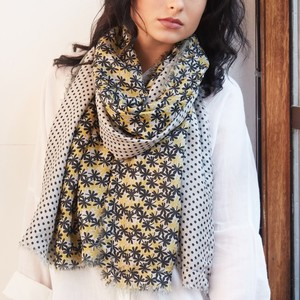 Super Soft Daisy and Polka Dot Scarf