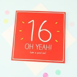 Happy Jackson '16 Oh Yeah!' Birthday Card