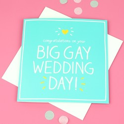 Happy Jackson 'Big Gay Wedding Day' Card