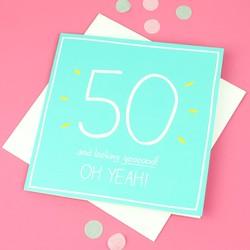Happy Jackson '50 Oh Yeah!' Birthday Card