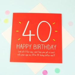 Happy Jackson '40 Happy Birthday' Card