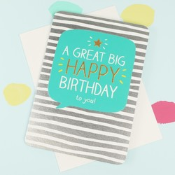 Happy Jackson 'Great Big Happy Birthday' Card