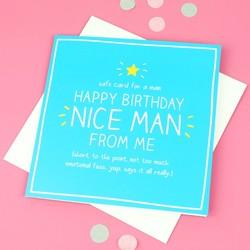 Happy Jackson 'Happy Birthday Nice Man' Card