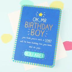 Happy Jackson 'Mr Birthday Boy' Card