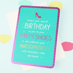 Happy Jackson 'Party Shoes' Birthday Card