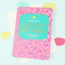 Happy Jackson 'Shiny Happy Birthday!' Card