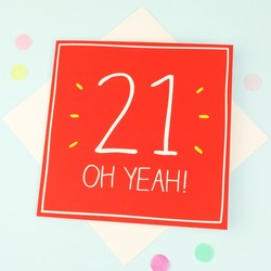 Happy Jackson '21 Oh Yeah!' Birthday Card