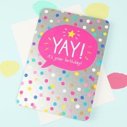 Happy Jackson 'Yay! It's Your Birthday!' Card
