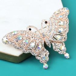 Powder Design Sparkling Butterfly Brooch