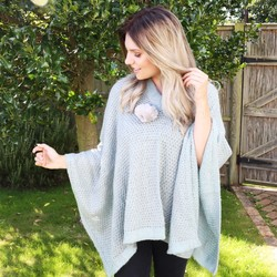 Powder Design Sophie Poncho in Ice
