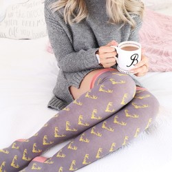 Powder Design Long Antler Socks in Slate and Mustard
