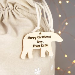 Personalised Sass & Belle Large Snowflake Christmas Sack