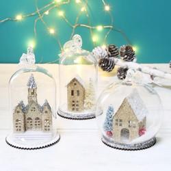Sass & Belle Vintage White Christmas Village Bauble