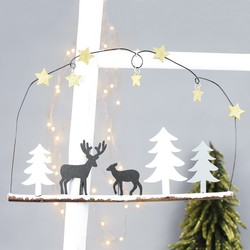 Winter Woodland Hanging Sign