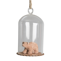 Sass & Belle Wooden Bear Cub Dome Bauble