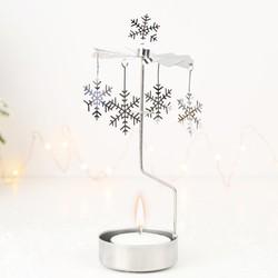 Sass & Belle Winter Snowflake Rotary Tealight Holder