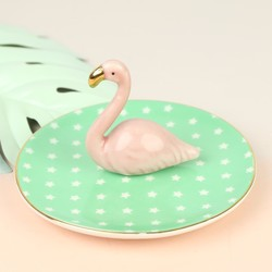 Sass & Belle Ceramic Flamingo Jewellery Dish