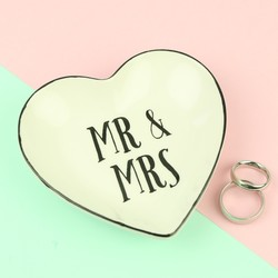 Sass & Belle Ceramic Mr and Mrs Jewellery Dish