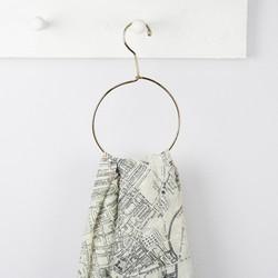 Sass & Belle Brass Circle Scarf Hanger