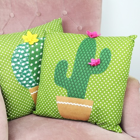Sass & Belle Colourful Cactus Cushion