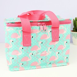 Personalised Sass & Belle Flamingo Lunch Bag