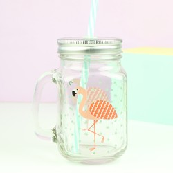 Sass & Belle Flamingo Mason Jar