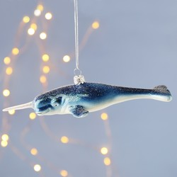 Sass & Belle Glittery Narwhal Hanging Decoration
