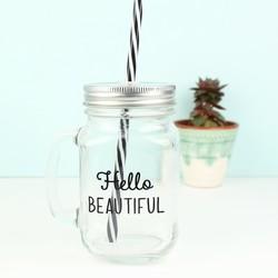 Sass & Belle 'Hello Beautiful' Mason Jar