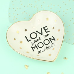 Sass & Belle 'Love You to the Moon and Back' Ring Dish