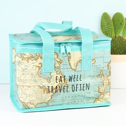 Sass & Belle Map Print Lunch Bag