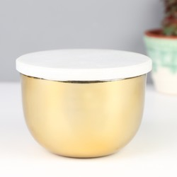 Sass & Belle Marble and Brass Storage Bowl