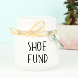 Sass & Belle Shoe Fund Money Pot with Key