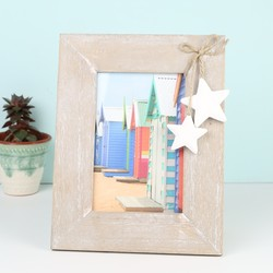 Sass & Belle Wooden Photo Frame with Hanging Stars