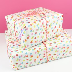 Coloured Confetti Wrapping Paper