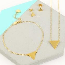Gold Triangle Jewellery Set